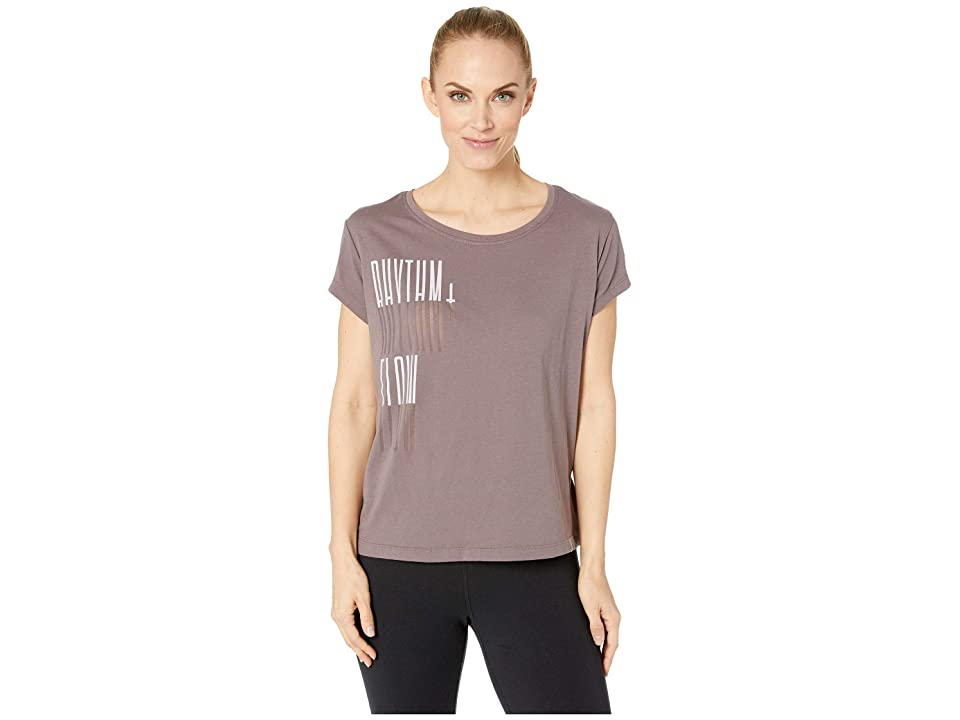 Reebok Gs Rhythm + Flow Easy Tee (Almost Grey) Women