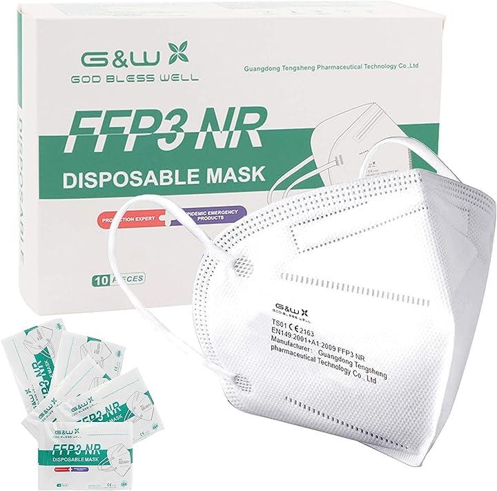 Mascherine ffp3 certificate ce maschera ad alta efficienza di filtrazione 5 strati - 10 pezzi soyes FFP3-Maske-01
