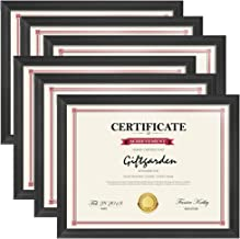 Giftgarden 8.5x11 Picture Frames Certificate Document Frame Set, Black, 6 Pack