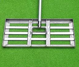 WSVULLD Golf gazon hark, golf tuin gras gazon hark, niveau bewegen roestvrij staal Drag Mop, Heavy Duty Lawn Push-tool met...