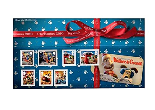 Christmas with WALLACE & GROMIT PRESENTATION PACK Royal Mail Mint British Collector Stamps  No.of Stamps  7 Date of Issue  November 2, 2010 Design  Aardman Animations Ltd & Royal Mail Printer  De la Rue Security Print  Brand New, Presentation Pack,