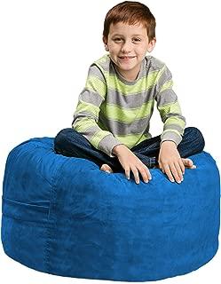 Chill Sack Bean Bag Chair: Large 2' Memory Foam Furniture Bean Bag - Big Sofa with Soft Micro Fiber Cover - Royal Blue