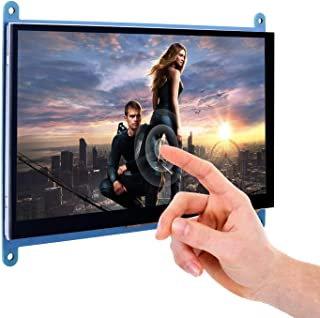 YASE-king 7 Capacitive Touch Screen TFT LCD Display HDMI Module 800x480 for Raspberry Pi 3 2 Model B and RPi 1 B+ A BB Bla...