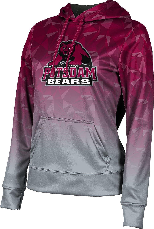 State University of New York at Potsdam Girls' Pullover Hoodie, School Spirit Sweatshirt (Maya) F9BE5 Red and Gray