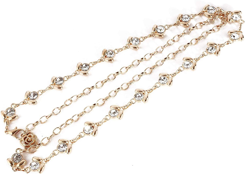 ZHLCity Chain Belts for Women Multilayer Waist Chain Dress Belt Body Belly Chain