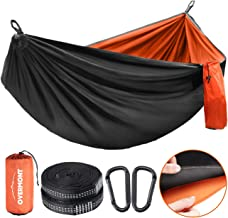 Overmont Double Layers Camping Hammock for Two German TUV Certificated Portable Outdoor Hammock Lightweight for Backpackin...