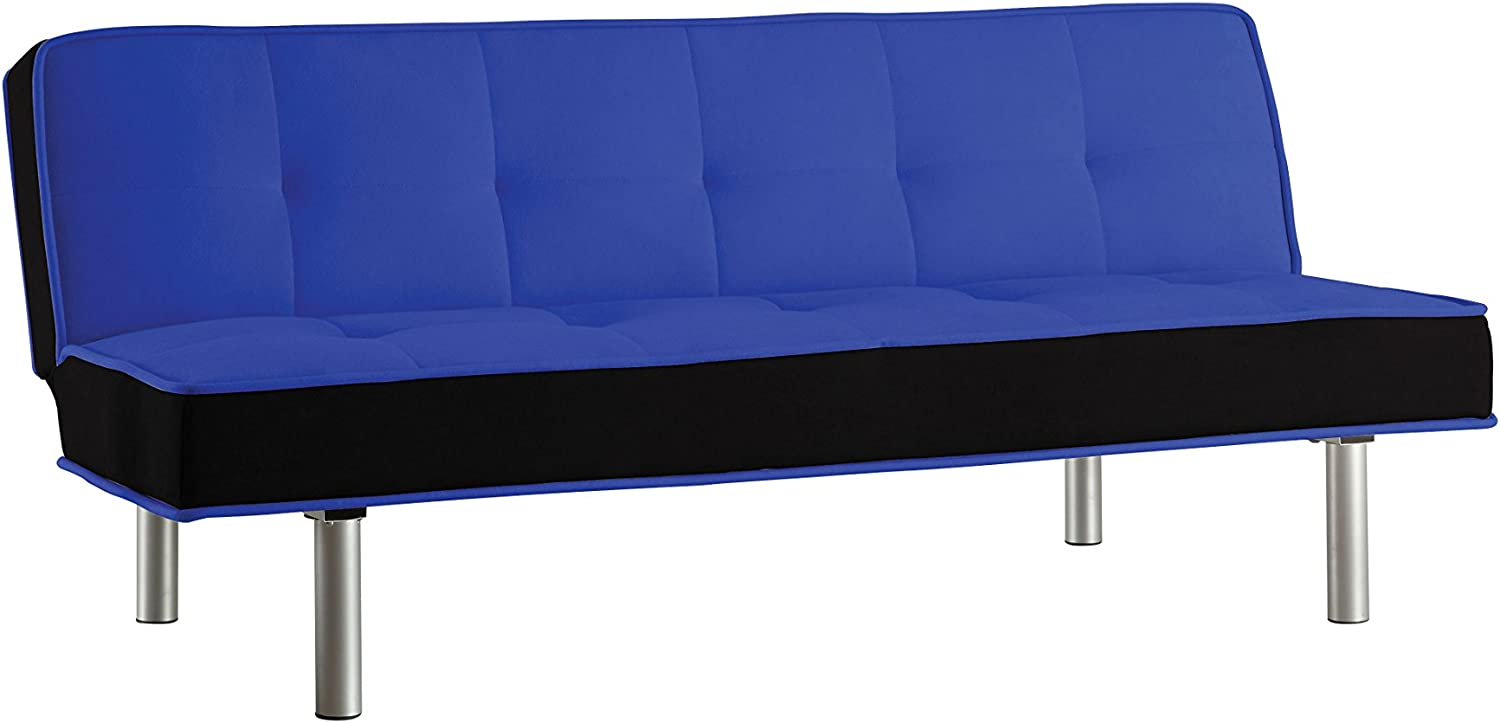 ACME Hailey Adjustable Sofa, bluee and Black Flannel