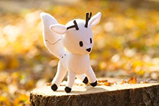 Twig plush - handmade toy Hilda inspired, Twig Doll, Hilda and Twig, Twig white fox, Twig the deerfox, handmade plush