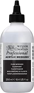 Winsor & Newton Professional Acrylic Medium Flow Improver, 250ml (Packaging may vary)