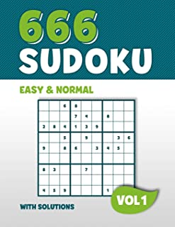 666 Sudoku: Puzzle book with 666 Easy & Normal Sudoku Puzzles in 9x9 with Solutions | 8,5 x 11 Inch | Vol 1