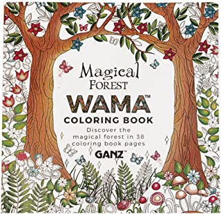 GANZ WAMA Magical Forest Adult Coloring Book