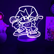 Lampka nocna 3D gorąca gra piątek noc zabawny kreatywna figurka LED chłopak dziewczyna FNF anime lampa stołowa dekoracja d...