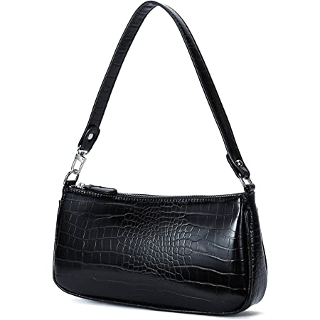 Pro-BikeUS Simple Fashion Crocodile Pattern Handbag Shoulder Bag Messenger Purses for Women Color : Black