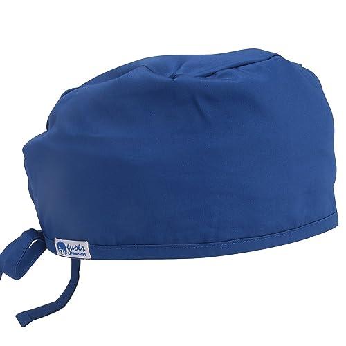 95c85ea7a70 Guoer Doctor Scrub Cap Surgical Hat Medical Cap One Size Multiple Colors  (Blue)