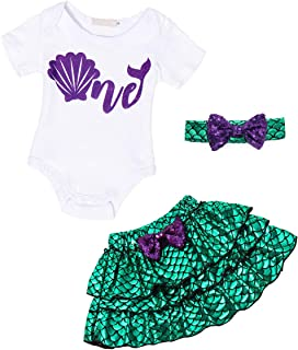 AmzBarley Little Mermaid Costume Outfit Dress Girls Princess Ariel Swimsuit
