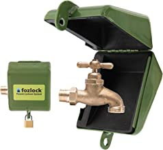 Fozlock Outdoor Faucet Lock System, Green – Insulated Garden Hose Bibb Lock and Spigot Lock With Cover – Prevent Water Theft and Stop Unauthorized Water Use and Vandalism, Easy Installation