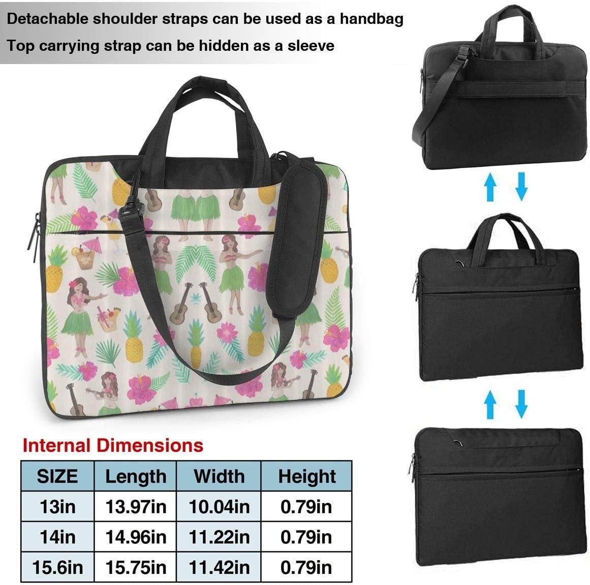 MATEH Hawaii Girl Laptop Bag 15.6 Inch Shoulder Messenger Bag Computer Tote Briefcase for Work School