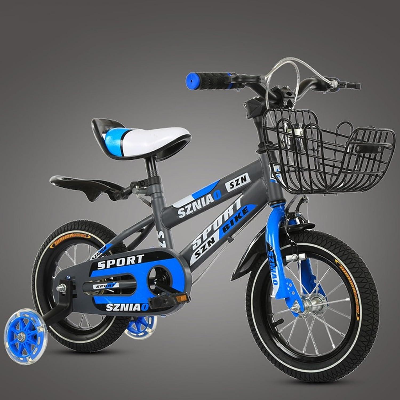Envío y cambio gratis. GAIXIA Bicicleta de Montaña para Niños, 14 Pulgadas Bicicleta para para para Niños, 3 a 5 cochecitos de bebé, Macho y Hembra, con Estructura de Acero de Alto Cochebono, Azul Bicicleta para Niños  precio mas barato