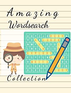Amazing Wordsearch Collection: Brain Games - Relax and Solve, Word Search, Easy-to-see Full Page Seek and Circle Word Searches to Challenge Your Brain.