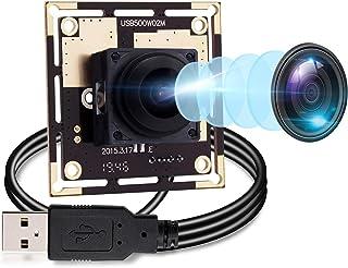 Autofocus 5 Megapixel USB Camera Module with 170 Degree Fisheye Lens HD 2592X1944 USB Webcamera with CMOS OV5640 Sensor USB with Camera,Mini Webcam for Windows Mac Andriod Linux,Plug&Play