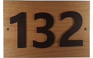 Brico, Numero residencial para casa interior o exterior de madera de pino