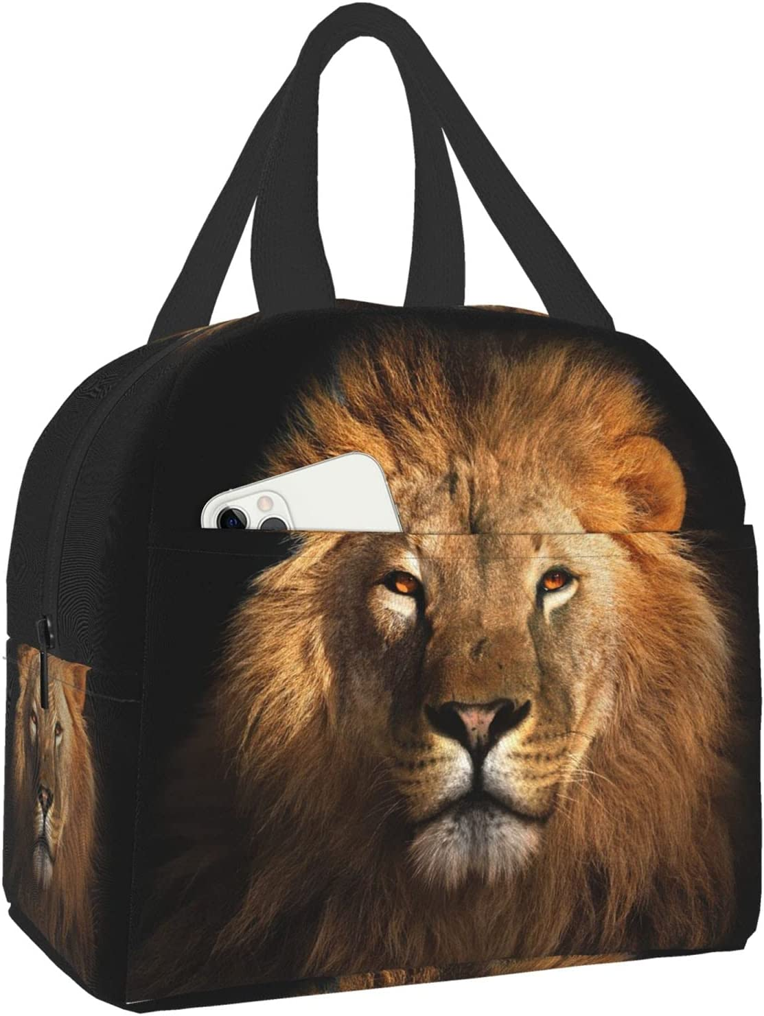 Niukom Lion King Black unisex OFFicial shop Kids Lunch Insulated For Bo Bag Box