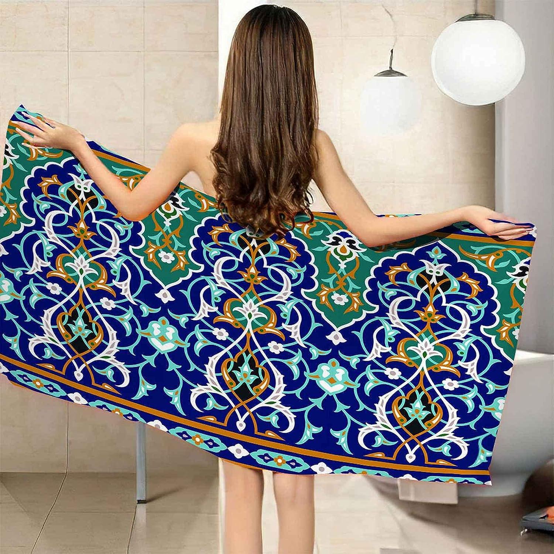 IRUAIF Ranking TOP8 Microfiber Beach Towel Abstract Qu 78.7x78.7in Blue Green Sale price