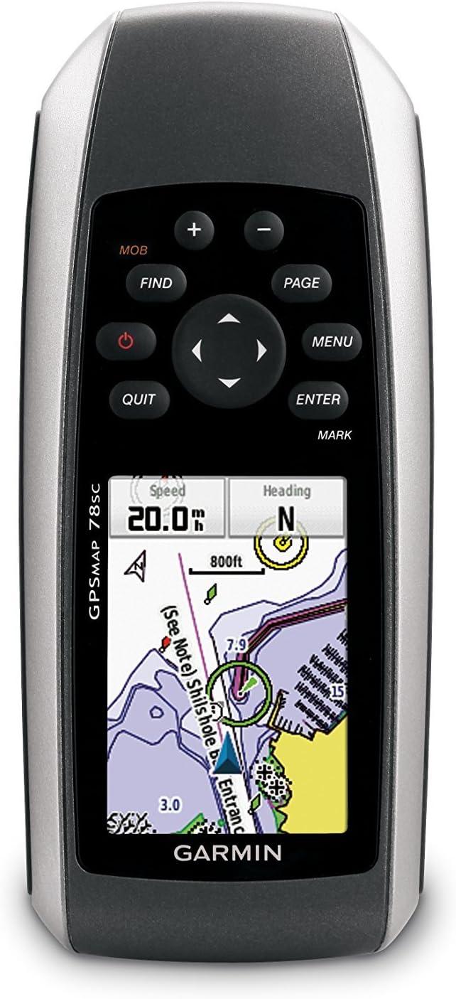 Garmin GPSMAP 78sc Waterproof Marine GPS and Chartplotter (Renewed)