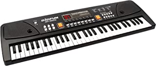 aPerfectLife 61 Keys Piano Keyboard for Kids Multifunction Portable Piano Electronic Keyboard Music Instrument for Kids Early Learning Educational Toy (Black)