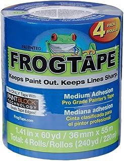 Shurtape CP-130 FrogTape Brand Pro Grade Painter's Tape: 1.41 in. x 60 yds. (Blue) / 4-Pack