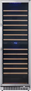 EdgeStar CWR1552DZ 24 Inch Wide 141 Bottle Capacity Free Standing Dual Zone Wine Cooler with Interior Lighting