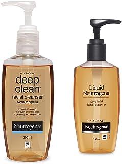 Neutrogena Deep Clean Facial Cleanser, 200ml And Neutrogena Liquid Mild Facial Cleanser, 150ml
