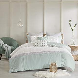 Urban Habitat Duvet Set 100% Cotton Jacquard, Tufts Accent Shabby Chic All Season Comforter Cover, Matching Shams, Decorat...