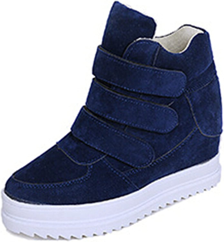 Ladiamonddiva Platform Women shoes Korean Hidden Heel Flock Fashion Wedge Casual shoes Flats Woman