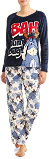 Women's Eeyore Super Minky Plush 2 -Piece Pajama Set
