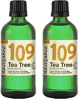 comprar comparacion Naissance Aceite Esencial de Árbol de Té BIO n. º 109 – 200ml (2x100ml) - 100% Puro, vegano, certificado ecológico y no OGM