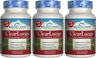 Ridgecrest Herbal Clearlungs Classic Red Label - 60 Vegan Capsules (3 Pack)