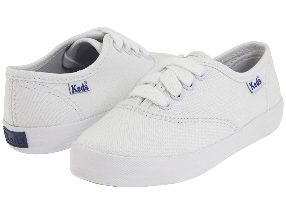 Keds Kids Original Champion CVO (Toddler/Little Kid) (White Canvas) Girls Shoes