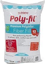 Fairfield FAIPFT12 Fiber Poly Fil Bag, 12 oz, White