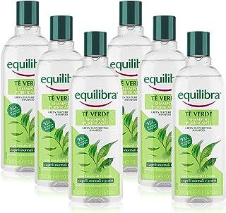 Equilibra Shampoo Purificante Tè Verde, Confezione da 6 Pezzi x 300 ml