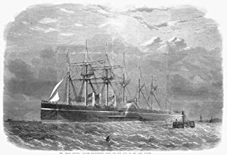 Great Eastern 1860 Nthe Iron Sail-And-Steam Ship Great Eastern Leaving Southampton England For New York On Her First Voyag...