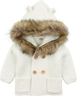 Baby Sweater Long Sleeve Hooded Bear 3D Ear Baby Cardigan with Feather Girl's Jacket Toddler Sweatshirt