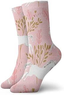 BEDKKJY, Calcetines Deportivos Unicorn Forest Blossom Elegante para Mujer Bota Corta Calcetín de Regalo Liquidación para niños
