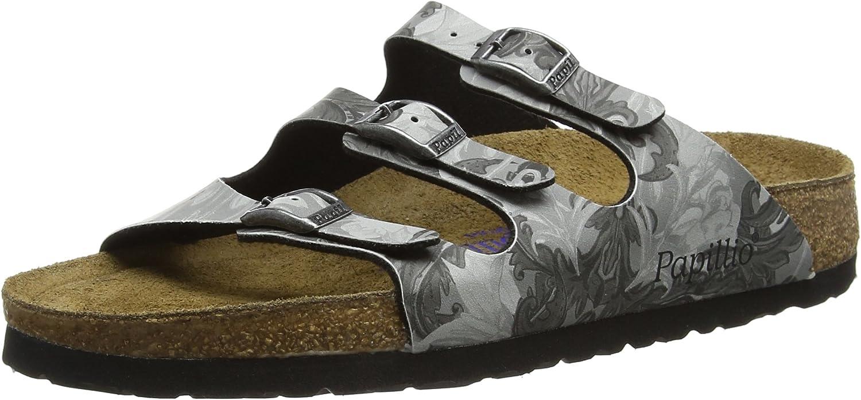 Papilio Florida, Soft Footbed, Birko Birko Birko -Flor, Pap Damask grå  med billigt pris för att få bästa varumärke