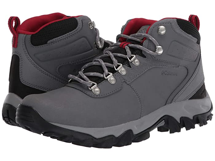 Columbia  Newton Ridge Plus II Waterproof (Ti Grey Steel/Rocket) Mens Waterproof Boots