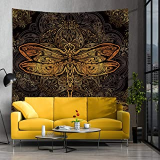 Jhdstore Queen Size Tarot Dragonfly Tapestry Wall Art Hanging Anisoptera Tapestries Polyester Bedspread Picnic Blanket Dra...