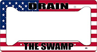 Rogue River Tactical Donald Trump License Plate Frame MAGA Republican Conservative Novelty Tag Vanity Gift Drain The Swamp