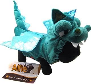 Alfie Pet - Smokie The Dragon Dinosaur Costume - Color: Green, Size: XL