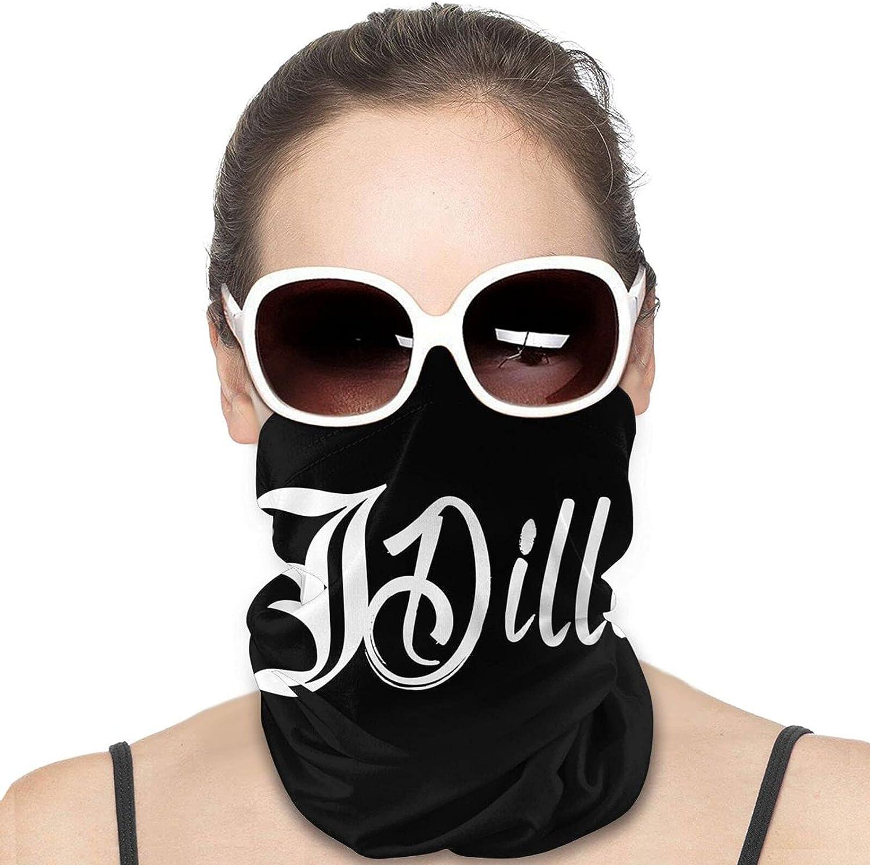 J Dilla Logo Men Women Neck Gaiter Multifunctional Uv Protection Face Mask Fashion Scarf Hip-Hop Bandana Hiking Headwear Neck Scarf Balaclava