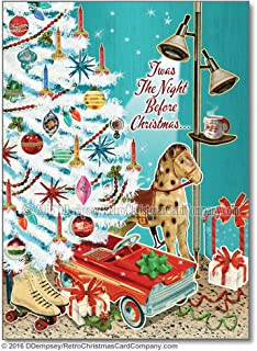 White Christmas Tree Cards, Package of 8